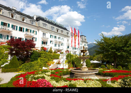Grand Hotel on Lake Zell am See, Pinzgau, Salzkammergut, Austria - Stock Photo