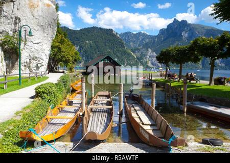 Traunkirchen, Lake Traunsee, Salzkammergut, Upper Austria, Austria - Stock Photo