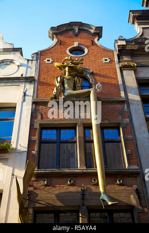 Shop Exterior, Brussels, Belgium - Stock Photo
