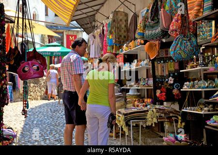 Tourists Shopping, Mostar, Bosnia and Herzegovina - Stock Photo