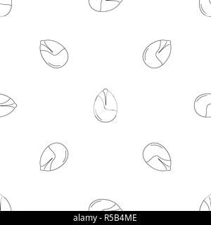 Nut pattern seamless vector repeat geometric for any web design - Stock Photo