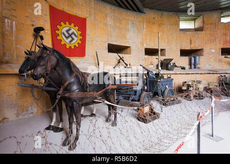 France, Nord-Pas de Calais Region, Cote d-Opale Area, Audinghen, Cap Gris Nez cape, Musee du Mur de Atlantique, Batterie Todt, World War Two German bunker museum, museum interior - Stock Photo