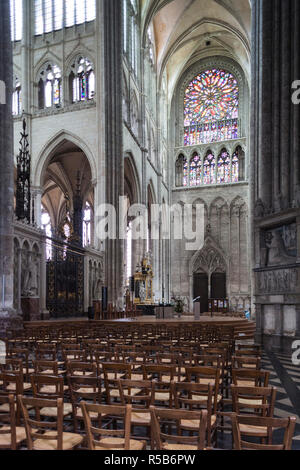 France, Picardy Region, Somme Department, Amiens, Cathedrale Notre Dame cathedral - Stock Photo
