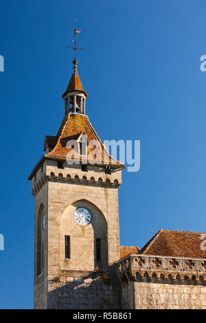 France, Midi-Pyrenees Region, Lot Department, Rocamador, upper town chateau - Stock Photo