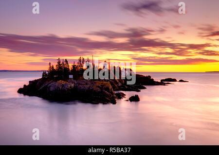 Canada, New Brunswick, Campobello Island, East Quoddy (Head Harbour) Lighthouse - Stock Photo