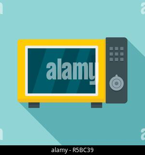 Microwave oven icon. Flat illustration of microwave oven vector icon for web design - Stock Photo