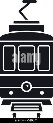 City tramcar icon. Simple illustration of city tramcar vector icon for web design isolated on white background - Stock Photo