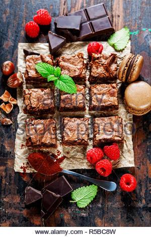 homemade brownie - Stock Photo