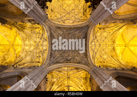 Spain, Andalucia Region, Seville Province, Seville, The Cathedral - Stock Photo