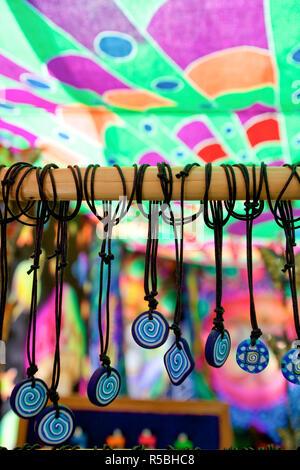 Hippie Market, Punta Arabi, Ibiza, Balearic Islands, Spain - Stock Photo
