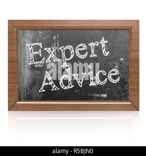Success concept with expert advice on blackboard - Stock Photo