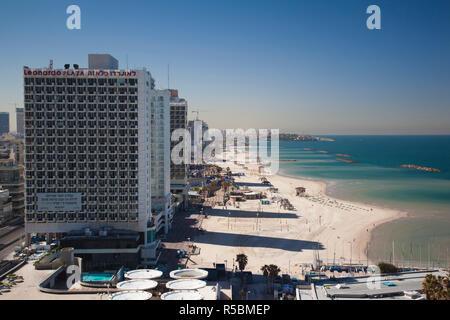 Israel, Tel Aviv, beachfront - Stock Photo