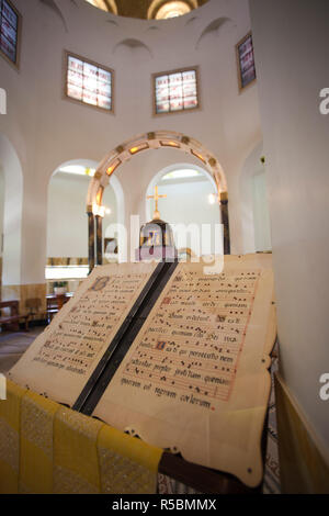 Israel, The Galilee, Tabgha, Mount of the Beatitudes, Church of the Beatitudes - Stock Photo