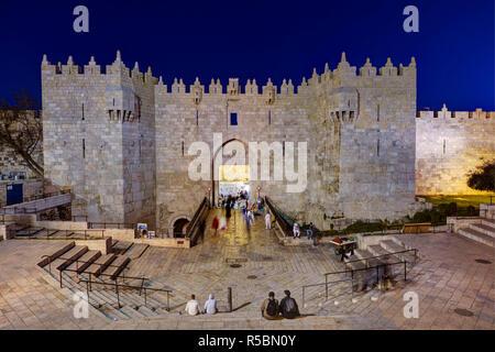 Israel, Jerusalem, The Old City, Damascus Gate - Stock Photo