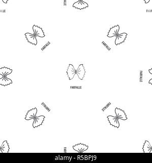 Farfalle pasta pattern seamless vector repeat geometric for any web design - Stock Photo