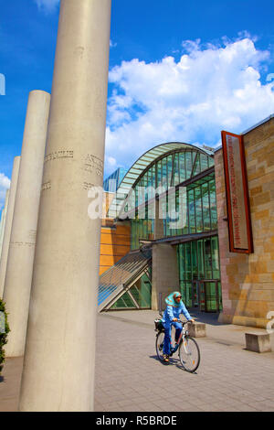 German National Museum and Way of Human Rights, Nuremberg, Bavaria, Germany - Stock Photo