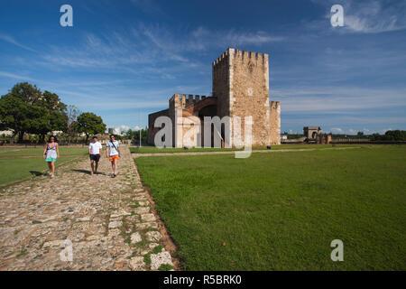 Dominican Republic, Santo Domingo, Zona Colonial, Fortaleza Ozama, oldest colonial military building in the New World, b.1502 - Stock Photo