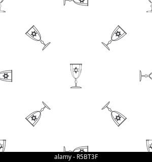 Judaism cup pattern seamless vector repeat geometric for any web design - Stock Photo