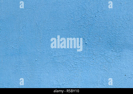 Blue background color, texture, old paint - Stock Photo