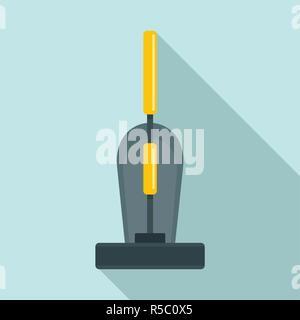 Old hand vacuum cleaner icon. Flat illustration of old hand vacuum cleaner vector icon for web design - Stock Photo