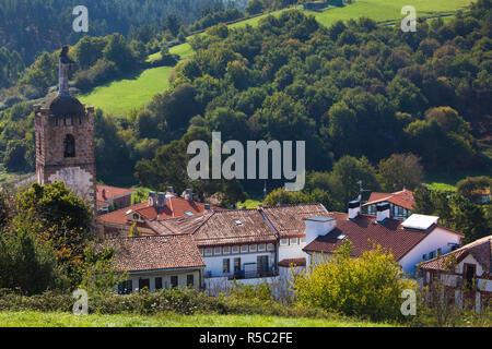 Spain, Basque Country Region, Vizcaya Province, Ibarrangelu - Stock Photo