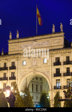 Spain, Cantabria Region, Cantabria Province, Santander of the original Banco de Santander building, largest bank in Europe - Stock Photo
