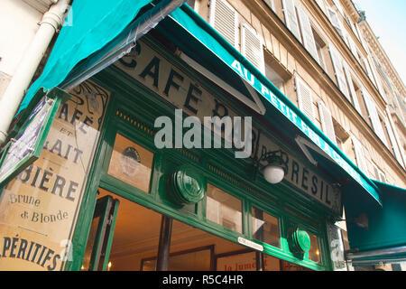 Cafe/Brasserie, Marais District, Paris, France - Stock Photo