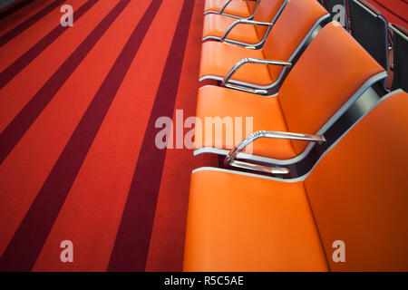 France, Paris, Aeroport Charles De Gaulle airport, Aerogare 2-Terminal E, international departure area - Stock Photo