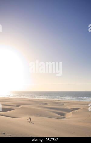 Cape Verde, Boavista, Chaves Beach (Praia de Chaves), sand dunes - Stock Photo