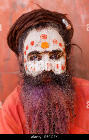 Sadhu, Mathura, Uttar Pradesh, India - Stock Photo