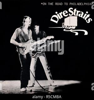 Dire Straits original vinyl album cover - On The Road To Philadelphia - 1979 - Stock Photo