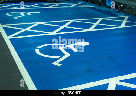 Blue Badge Parking space in - Stock Photo