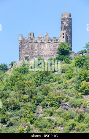 Rhine River Valley, Germany. Maus  Castle. - Stock Photo