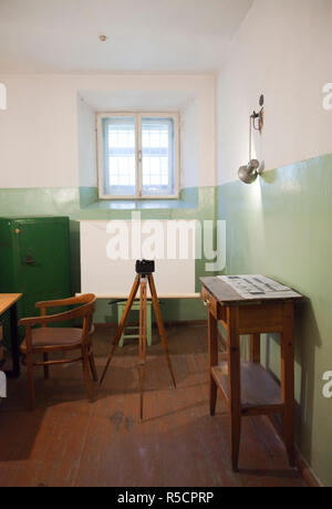 Lithuania, Vilnius, Museum of Genocide Victims, former KGB headquarters, photography area - Stock Photo