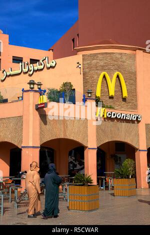 McDonalds, Marrakech Plaza, Place du 16 Novembre, Marrakech, Morocco, North Africa - Stock Photo