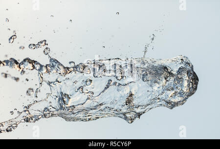 water splashes in the air - Stock Photo
