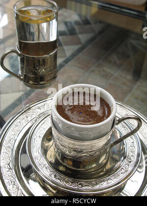 A Turkish Coffee at The Four Seasons Hotel, Istanbul, Turkey - Stock Photo