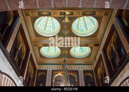 Kubbeli Saloon in the Pera Palace hotel, Beyoglu area, Istanbul, Turkey - Stock Photo