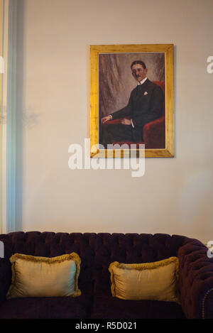 Kubbeli Saloon in the Pera Palace hotel, Beyoglu area, Istanbul, Turkey - Stock Photo