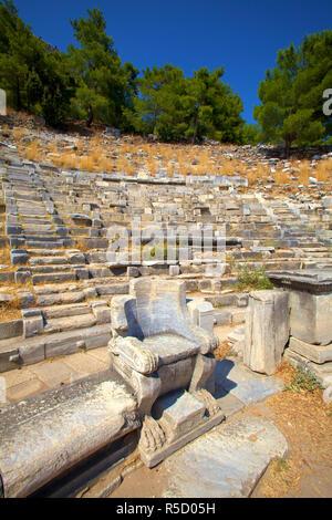 Theatre, Ancient City of Priene, Turkey - Stock Photo