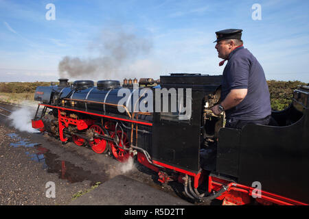 England, Kent, Dungeness, The Romney Hythe and Dymchurch Minature Railway - Stock Photo