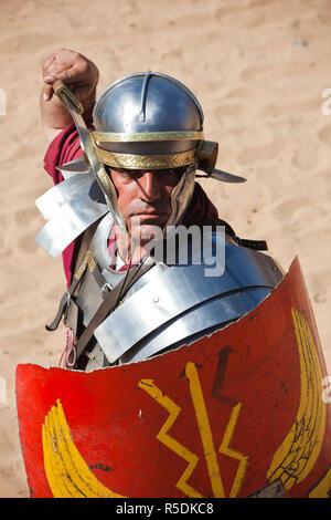 Jordan, Jerash, Roman Army and Chariot Experience, Roman-era military show - Stock Photo