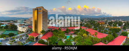 Elevaated view over central Kingston, St. Andrew Parish, Jamaica, Caribbean - Stock Photo