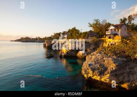 The idyllic West End, Negril, Westmoreland, Jamaica - Stock Photo