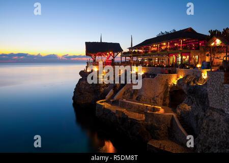 Ricks Cafe, West End, Negril, Westmoreland, Jamaica - Stock Photo