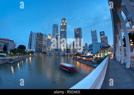 Central Business District, Boat Quay, Singapore - Stock Photo