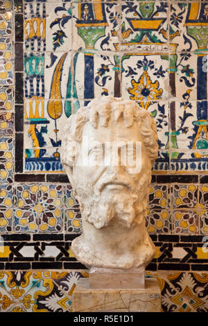 Tunisia, Tunis, Bardo Museum, Roman-era sculpture - Stock Photo