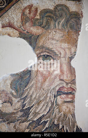 Tunisia, Tunis, Bardo Museum, Roman-era mosaics - Stock Photo