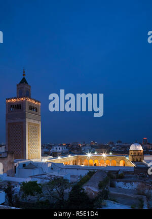 Tunisia, Tunis, Medina, Zaytouna-Great Mosque - Stock Photo