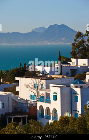 Tunisia, Sidi Bou Said, village detail - Stock Photo